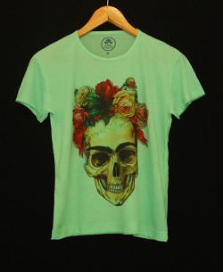 camisa_frida_skull_verde